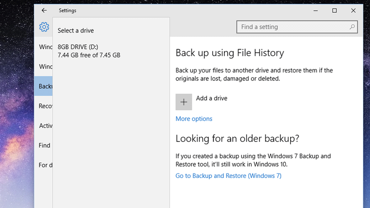 how to backup win10 choose drive thumb - نحوه بک آپ گیری از ویندوز 10